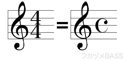 4分の4拍子の記号